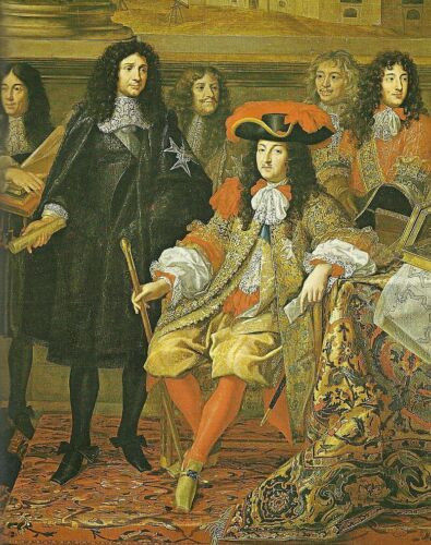 """oil painting handpainted on canvas """"King Louis XIV  with his Minister  """""""