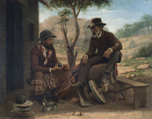 """high quality oil painting handpainted on  canvas """"  Two brothers"""""""