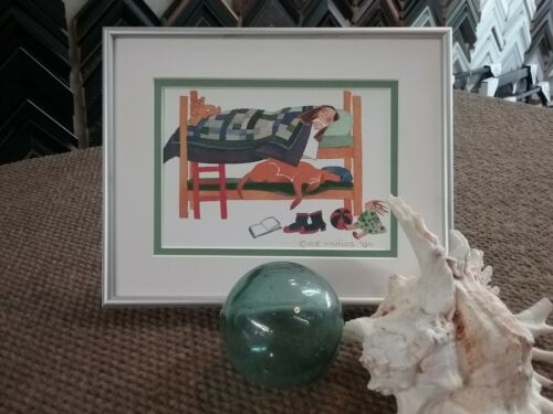 """One-of-a-Kind Custom Framed & Matted Art Card """"FAMILY DOG"""" by Rie Munoz"""