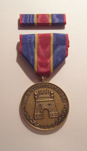 1898 U.S. Army Occupation Puerto Rico Medal with RIBBON
