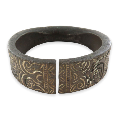 """.1700s/ 1800s SUPERB HEAVY DECORATIVE BRONZE AFRICAN """"MANILLA"""" CURRENCY BRACELET"""