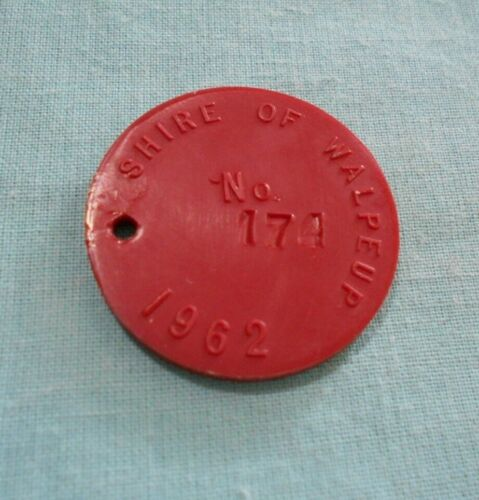#D619.   1962  SHIRE OF WALPEUP  DOG TAG  #174