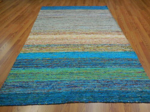 Super Abstract Transitional Modern Oushak Multicolores Decore Design 5x8 Rug