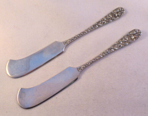 BALTIMORE ROSE- SCHOFIELD 2 STERLING BUTTER SPREADERS