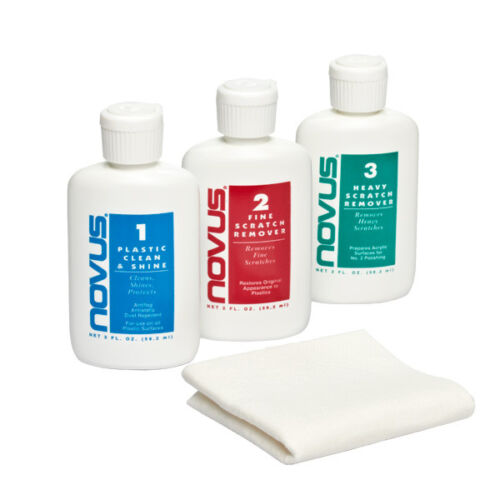 NOVUS 1 2 3 PLASTIC POLISH SET SCRATCH REMOVER CLEANER
