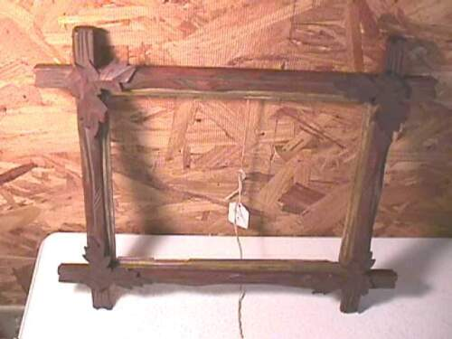 """Antique Walnut Victorian """"Leaves"""" Picture Frame- #3"""
