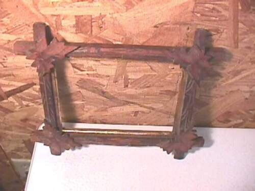 """Antique Walnut Victorian """"Leaves"""" Picture Frame- #4"""