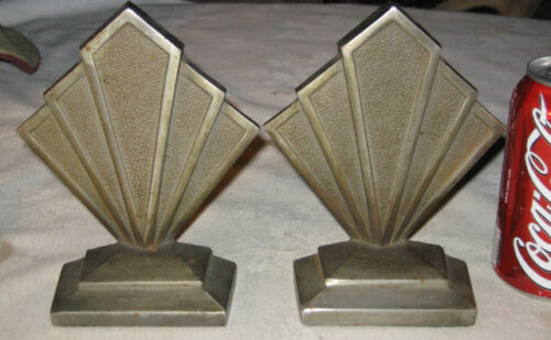 ANTIQUE HUBLEY CAST IRON ARCHITECTURAL INDUSTRIAL #306 BOOKENDS STEAM PUNK ART