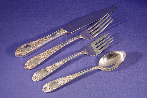 ROSE-KIRK STERLING 4 PIECE PLACE SETTING(S)