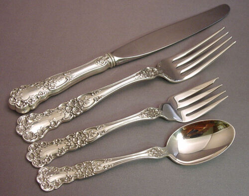 BUTTERCUP-GORHAM STERLING 4 PIECE LUNCH PLACE SETTING(S)-*MODERN BLADE*