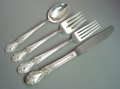 BROCADE - INTERNATIONAL 4 PIECE STERLING LUNCH PLACE SETTING(S)