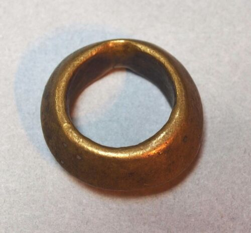 Antique Ethiopian Brass Wedding Ring Metal Bead Ethiopia Africa Ring Size 6