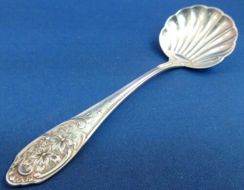 FANCY FLORAL 800 STERLING SILVER SMALL LADLE SERVER