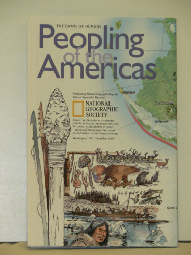 2000 National Geographic Map of the Americas & Peopling of the Americas