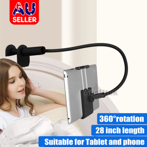 360°Rotating Tablet Stand Holder Lazy Bed Desk Mount For iPad Air iPhone Samsung