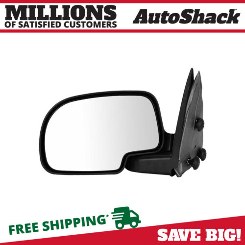 Black Manual Driver Left Folding Side Mirror for 1999-2007 Chevy Silverado 1500 <br/> FAST SHIPPING – Most Items Ship Same Day - LOWEST PRICE
