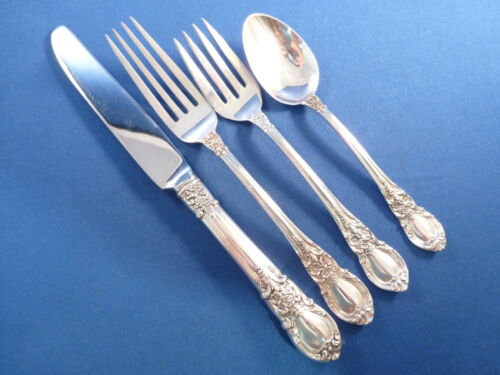 AMERICAN VICTORIAN-LUNT 4PC STERLING PLACE SETTING-FRENCH