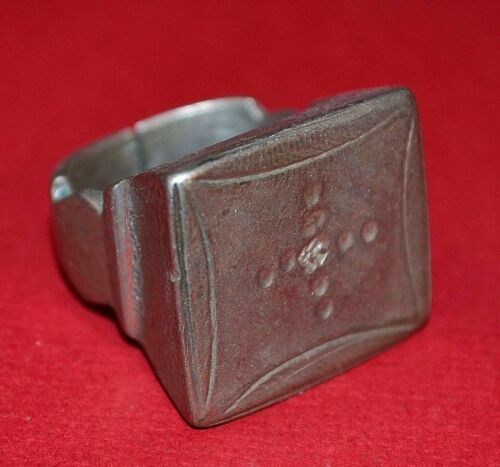Antique African Tuareg Ethnic Coin Silver Ring Niger, Africa - Ring Size 5 1/2