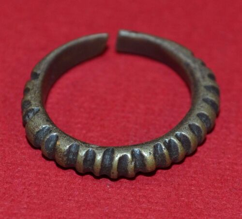 African Antique Tuareg Tribal Ethnic Metal Ring From Niger Africa - Ring Size 9