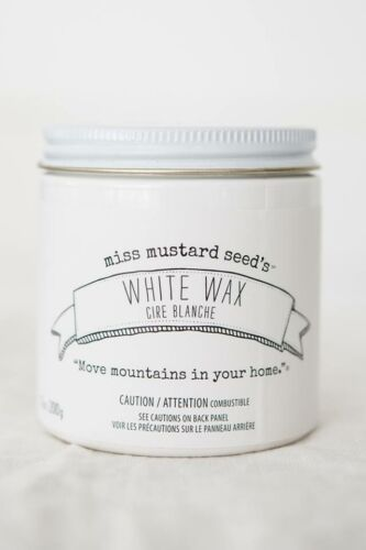 Miss Mustard Seed's - White Wax - 7 oz. - antique furniture painting DIY