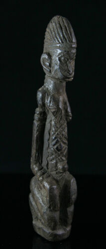 African figure, carved wood, genuine old, ca.1900, 18,5cm/7.3inch, Bambara, Mali