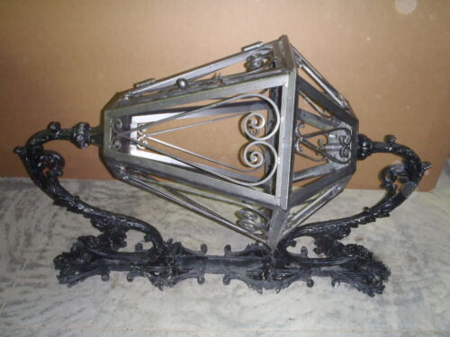Cast Iron Gothic Light Housing Frame Rotating Wall Mounted Large