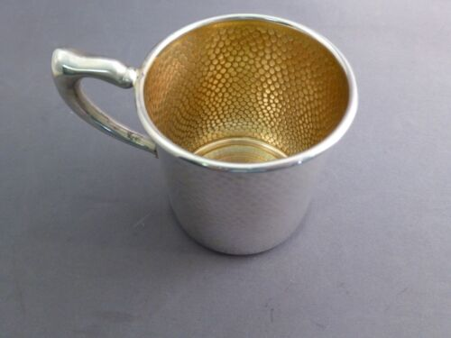"VERY NICE HAMMERED STERLING BABY CUP BY INTERNATIONAL-2 5/8"" TALL"