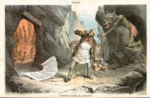SLAVERY AND STARVATION LABORER STUCK BETWEEN UNION TYRANNY & HUNGER, BY KEPPLER