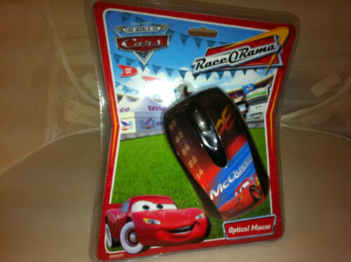 Disney Cars McQueen PC Optical USB Computer Mouse by Cirkuit Planet NEW