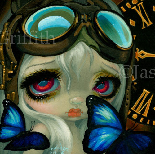Fairy Faces 217 Jasmine Becket-Griffith art faery steampunk SIGNED 6x6 PRINT