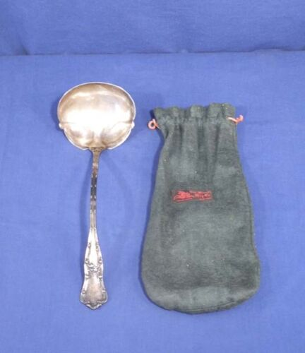 """George W Schiebler Sterling Silver Large Punch Ladle 13-1/2"""" Gothic 7.5 Troy Oz."""