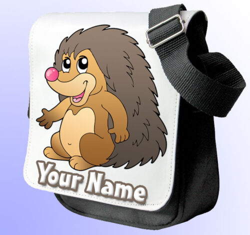 HEDGEHOG PERSONALISED SHOULDER / HAND BAG *Choice of 2 colours* GREAT GIFT !!