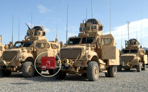 Isaf Kandahar-whacker© War Trophy Patch.: Convoy Warring Sign Stay Back 100m