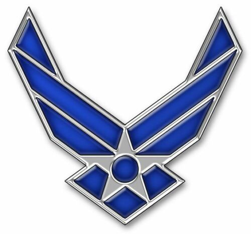 """United States Air Force Logo II Wings Lapel / Hat Pin USAF 3/4""""Medals, Pins & Ribbons - 104024"""