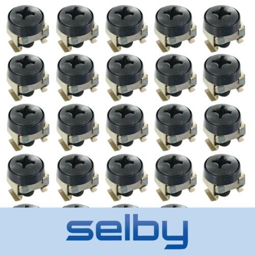 """24 Pack M6 Bolts Screws Set with Captive Nuts & Washers for 19"""" Inch Rack Mount"""
