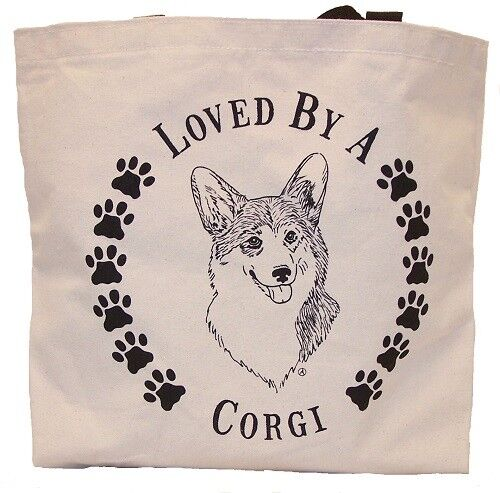 Loved By A Corgi Tote Bag New  MADE IN USA