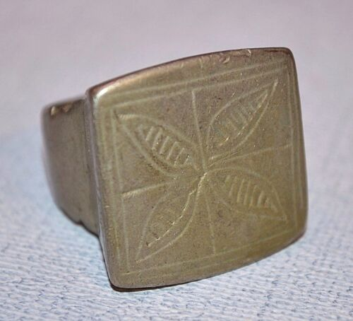 Large Antique African Tuareg Ethnic Tribal Ring From Niger Africa - Ring Size 10