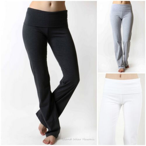 Women's Thick Heavy Cotton Workout Long Length Gym Athletic YOGA PANTS SP-226