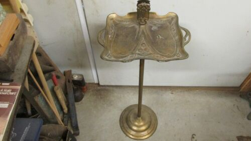 Antique Art Nouveau Brass Cast iron Smoking Stand
