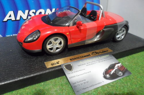 RENAULT SPORT SPIDER cabriolet rge 1/18 ANSON 30350 voiture miniature collection