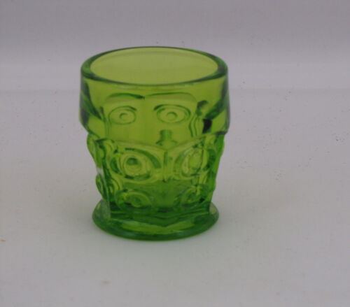 Viking Glass Yesteryear Line  Bull's-Eye Toothpick or Tumbler in Avocado Glass