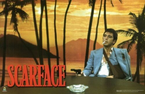 SCARFACE POSTER Al Pacino - Sunset Scene RARE NEW 24X36