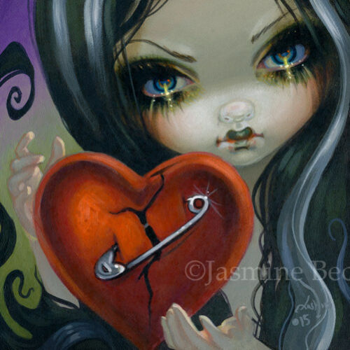 Fairy Face 230 Jasmine Becket-Griffith valentine's day faery SIGNED 6x6 PRINT