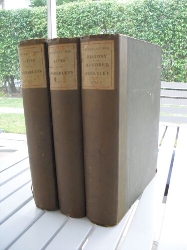 THE BERKELEY MANUSCRIPTS BY JOHN SMYTH OF NIBLEY 3 VOLUME SET 1883 - 1885