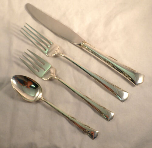 Greenbrier-Gorham Sterling 4 PC Dinner Size Place Setting(s)-French
