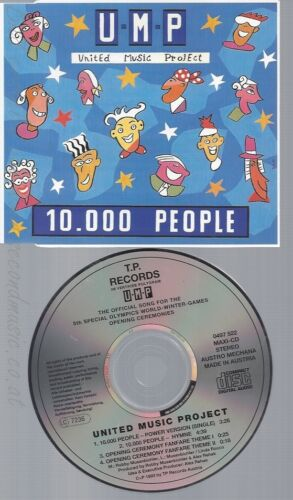 CD--UNITED MUSIC PROJECT--10.000 PEOPLE --WINTER GAMES OPENING CEREMONIES, 1993-