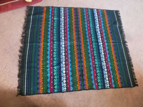 Collectible Tapestry Table Runner Rug 42 x 34 Inch Bold Colors WOW