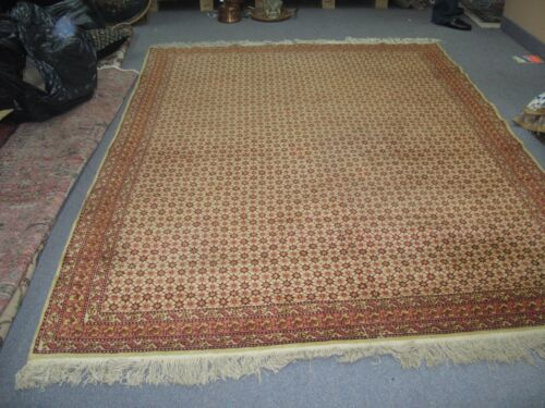 Vintage Decorative Moroccan Tribal Rug Hand Knotted Wool Allover 6' x 8'