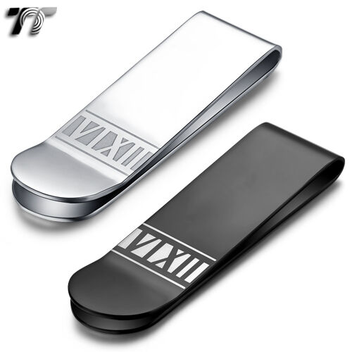 High Quality TT 316L Stainless Steel Roma Number Money Clip (MC38) NEW