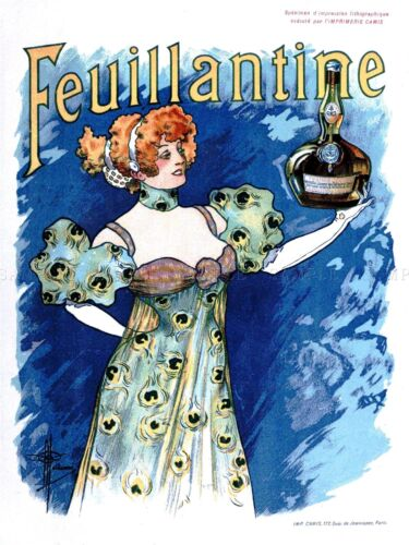 ADVERT FEUILLANTINE ALCOHOL FOOD DRINK FRANCE BRITTANY POSTER ART PRINT BB1791A